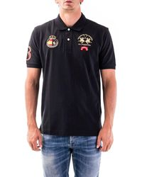 La Martina Cotton Polo Shirt - Black