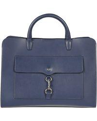 Rebecca Minkoff Blue Leather Travel Bag