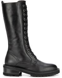Via Roma 15 3477malibu Leather Ankle Boots - Black