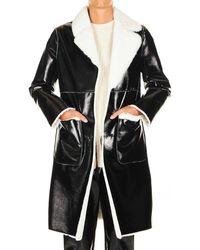 Liu Jo Black Polyurethane Outerwear Jacket