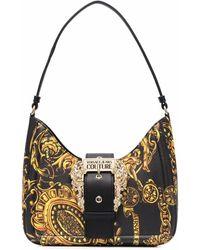 Versace Jeans Couture Schultertasche mit Logo-Schnalle - Schwarz