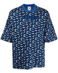 KENZO BAUMWOLLE T-SHIRT - Blau