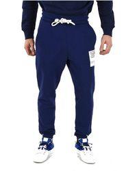Maison Margiela Cotton Sweatpants - Blue