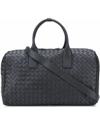 Bottega Veneta Leather Travel Bag - Black