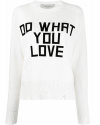 Golden Goose 'Do What You Love' Pullover - Weiß