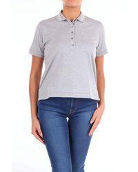 Eleventy Cotton Polo Shirt - Gray