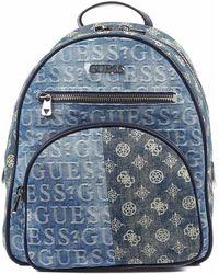Guess New Vibe Backpack Denim - Blau