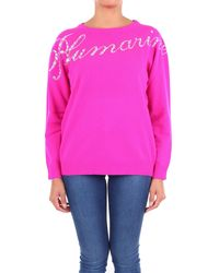 Blumarine Fuchsia Wool Sweater - Pink