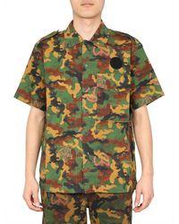 Off-White c/o Virgil Abloh Hemd mit Camouflage-Print - Grün