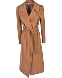 Tagliatore Brown Wool Coat