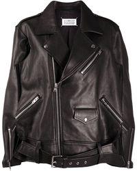 Maison Margiela 'memory Of' Biker Jacket - Black