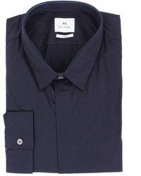 Paul Smith Blue Cotton Shirt