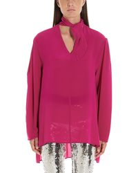 Nude Silk Blouse - Pink
