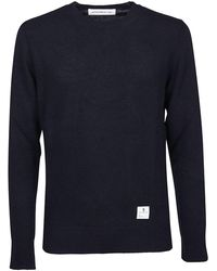 Department 5 BLAU WOLLE PULLOVER