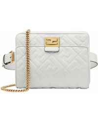 Fendi Leather Belt Bag - White