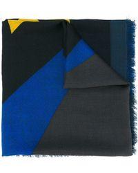 Fendi Multicolour Silk Foulard - Blue