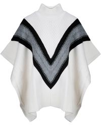 See By Chloé White Wool Poncho