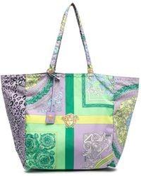 Versace Handtasche mit Print - Lila