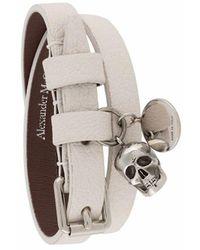 Alexander McQueen Leather Bracelet - White