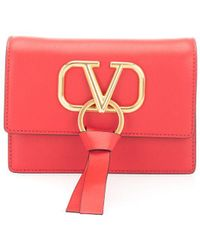 Valentino Red Leather Pouch