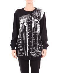 Boutique Moschino - Black Wool Cardigan - Lyst