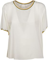 Pinko White Silk Blouse