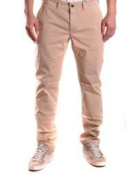 Etiqueta Negra Beige Cotton Pants - Natural