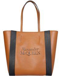 Alexander McQueen ANDERE MATERIALIEN TOTE - Braun