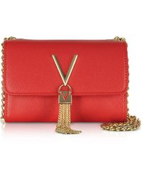 Valentino By Mario Valentino Red Leather Clutch