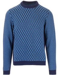 Prada Blue Wool Sweater
