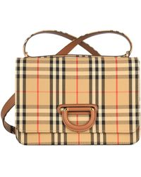Burberry - Beige Leather Shoulder Bag - Lyst