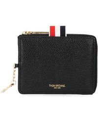 Thom Browne Leather Wallet - Black