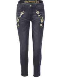 Desigual - Grey Cotton Jeans - Lyst
