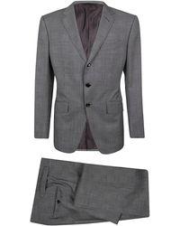 Tom Ford Anzug mit Prince-of-Wales-Karomuster - Grau