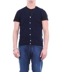 Zanone Knitted Vest - Blue