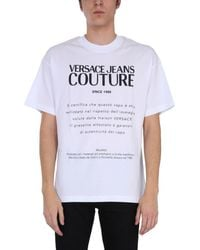 Versace Jeans Couture ANDERE MATERIALIEN T-SHIRT - Weiß