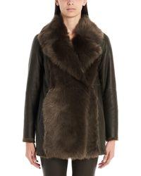 Theory Green Wool Coat