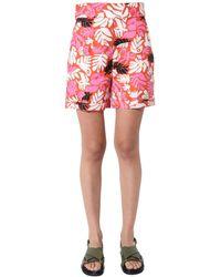 Marni Pama0151a0tr013elr30 Polyamide Shorts - Orange