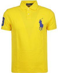 Ralph Lauren Yellow Cotton Polo Shirt