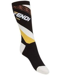 Fendi Black Cotton Socks