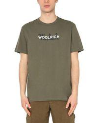 Woolrich BAUMWOLLE T-SHIRT - Grün