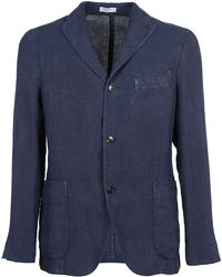Boglioli Blue Linen Blazer