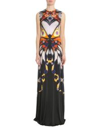 Givenchy Butterfly Printed Long Dress - Black
