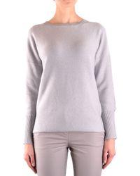 Fabiana Filippi Grey Wool Jumper - Gray