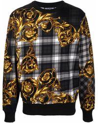 Versace Jeans Couture BAUMWOLLE SWEATSHIRT - Grau