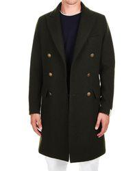 Eleventy Green Wool Coat