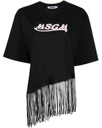 MSGM - T-Shirt mit Logo-Print - Lyst