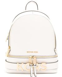 Michael Kors White Leather Backpack
