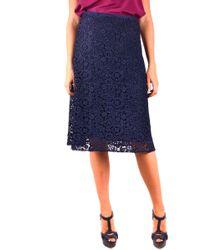 Miu Miu Blue Polyester Skirt