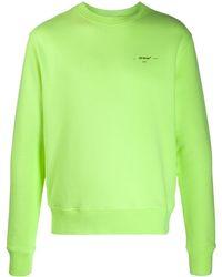 Off-White c/o Virgil Abloh Diagonal Arrows Sweatshirt - Green